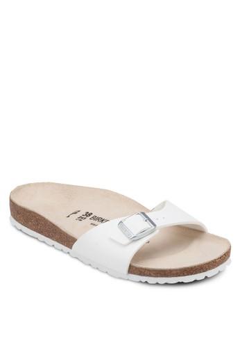 Madesprit outlet 家樂福rid 扣環單帶平底涼鞋, 女鞋, 懶人鞋
