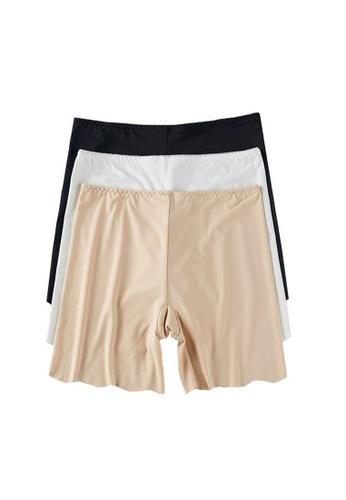 YSoCool black and white and beige 3 Packs Women Smooth Basic Plain Shorts Safety Panties 6F403USADA86ECGS_1