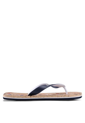 Superdry navy Cork Colour Pop Flip Flop 4B04BSHC715658GS_1