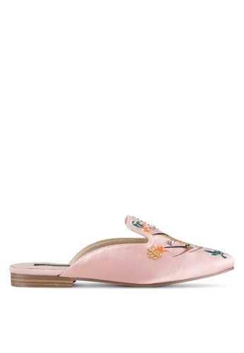 ZALORA pink Embroidered & Beaded Slippers 6B59AZZ39A975BGS_1