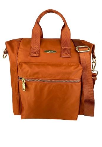 Mel&Co orange Nylon Satchel F6F62AC838059EGS_1