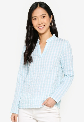 ZALORA BASICS multi Button Detail Mandarin Collar Shirt DF1B8AA5A89DB2GS_1