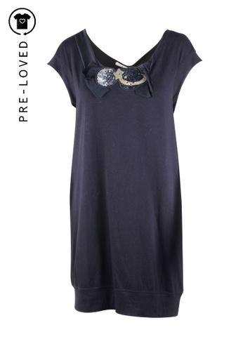 Tsumori Chisato black Pre-Loved tsumori chisato Black Embellished Knit Dress F2B12AAB91A1A3GS_1