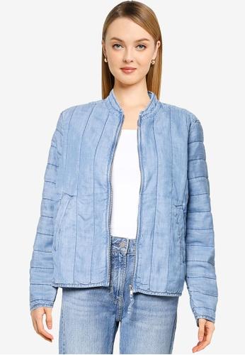 GAP blue V-Quilted Indigo Jacket E3419AAE2A846DGS_1