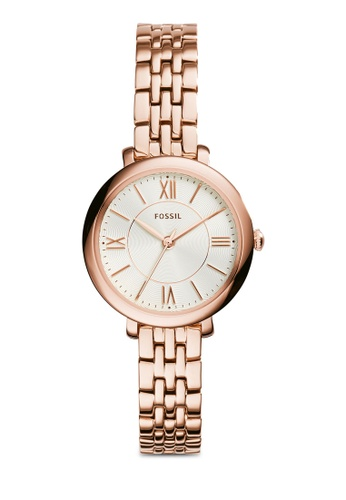 Buy Fossil Fossil Jacqueline Rose Gold Watch Es3799 Online Zalora