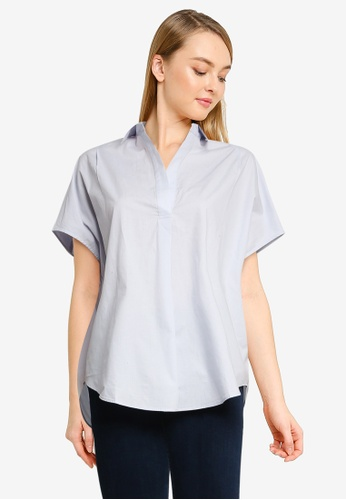 French Connection blue Cele Rhodes Shirt 3BF4EAAC7FF333GS_1