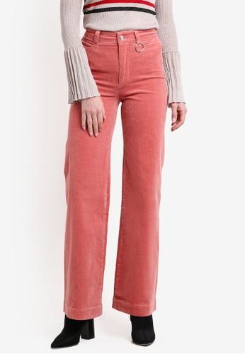 Mango pink High-Waist Corduroy Trousers MA193AA0RK8RMY_1