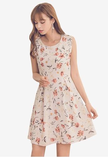 Yoco white Floral U-Neck Dress 2154FAA9E66D10GS_1