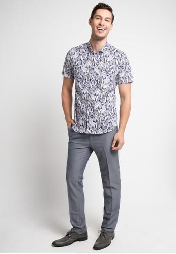 MOC blue FLORALBIRD-BLUE Shirt C57D5AADCCD84EGS_1