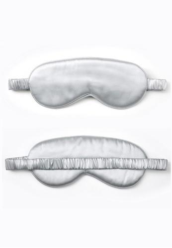 Moody Mood silver 22 Momme Mulberry Silk Sleep Eye Mask・Modern Gray 988E8BE3031824GS_1