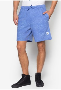Cyan Speckle Printed Short