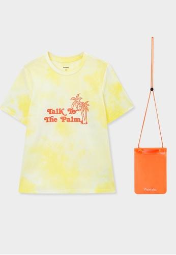 Pomelo yellow Talk To The Palm Tie Dye Tee - Yellow 753DDAA7532114GS_1