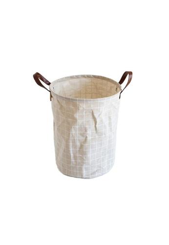 DILAS HOME Plaid Pattern Laundry Storage Basket B0068HL3E88093GS_1