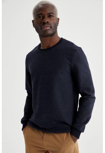 DeFacto blue Man Knitted Sweat Shirt 1D033AA6A11F90GS_1