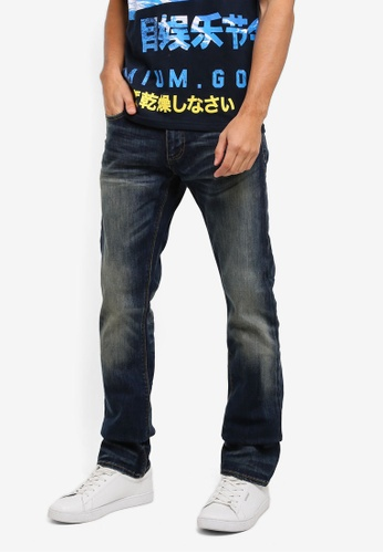 Superdry blue Corporal Slim Jeans SU137AA0T22NMY_1