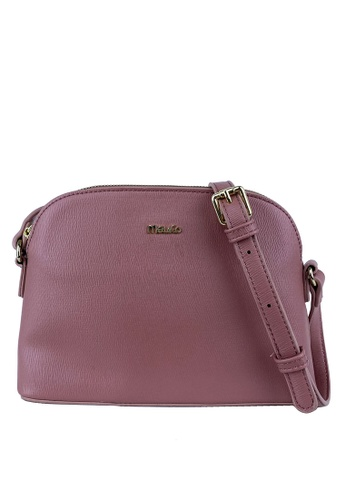 Mel&Co pink Dome Faux Leather Sling Bag 4C74FACD1E32C6GS_1