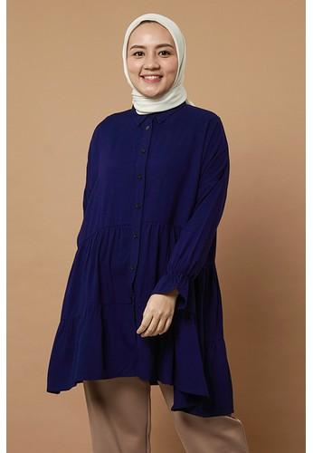 Syaline Hijab navy JASMINE TUNIC NAVY 7388CAA704AFB5GS_1