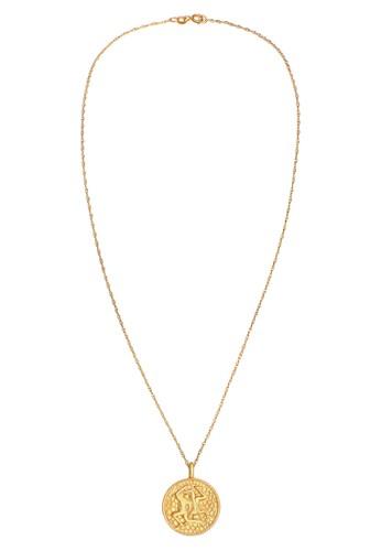 Elli Germany gold Perhiasan Wanita Perak Asli - Silver Kalung Zodiac Gemini Coin Lapis Emas EDD58ACC8D973AGS_1