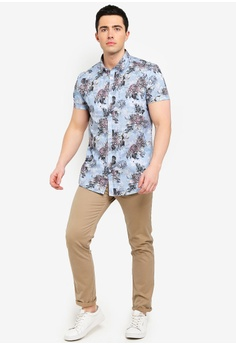 618aeac8aca 16% OFF River Island Floral Slim Fit Short Sleeve Shirt S  44.90 NOW S   37.90 Sizes XS S M L XL
