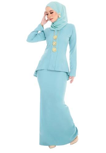 SARIMA green Kebaya Muslimah Fashion Dusty Mint Green FE65DAA01AF806GS_1