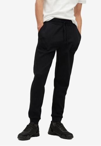 Mango Man black Pocket Jogger Trousers BC89DAA5F08590GS_1