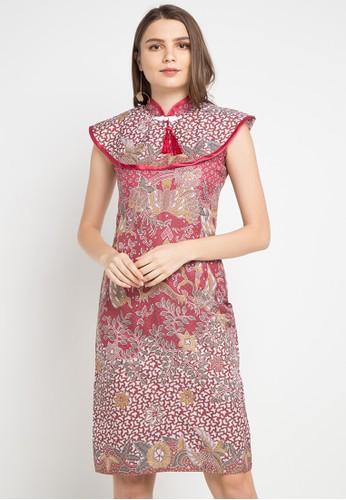 Batik Putra Bengawan pink and multi Dress Db P Oktara Leaf Pk Pb 494D0AAB6C35AAGS_1