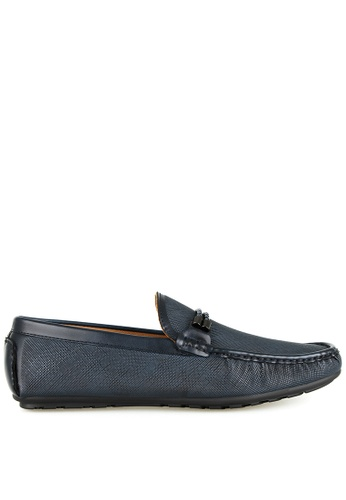 Tomaz blue Tomaz C391 Braided Buckle Moccasins (Navy) 16FE6SH0E90739GS_1