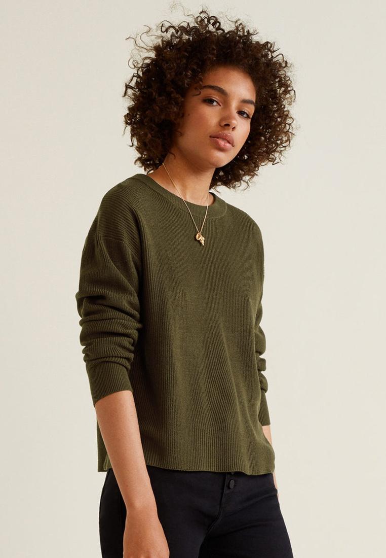 Back Sweater Vent Mango Mango Back Khaki Khaki Vent Sweater BWfUUnFx
