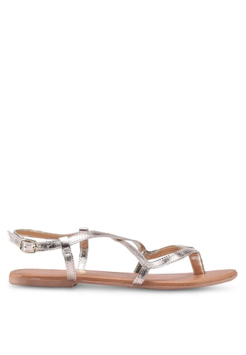 Dorothy Perkins gold Gold Leather Fabia Sandals FC90CSH301556CGS_1