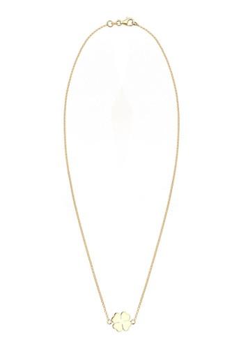 幸運四esprit 兼職葉草鍍金 925 純銀項鍊, 飾品配件, 項鍊