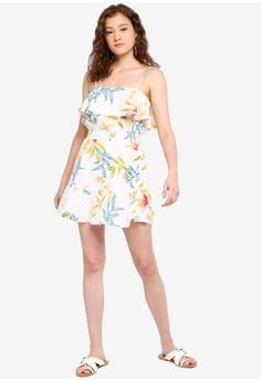 5f016df406f6 River Island Floral Ruffle Mini Beach Dress S$ 46.90. Sizes XS S M L