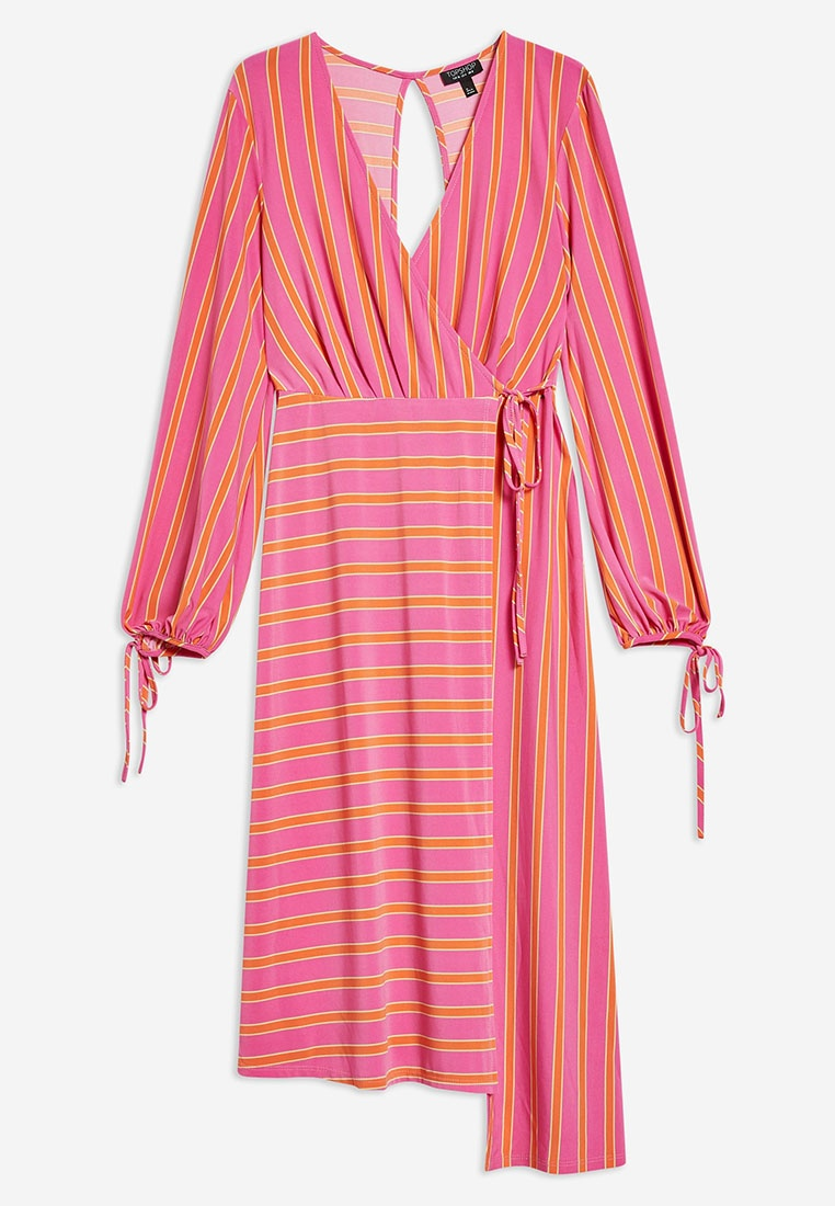 Dress Midi Wrap TOPSHOP Pink Stripe WE5nW
