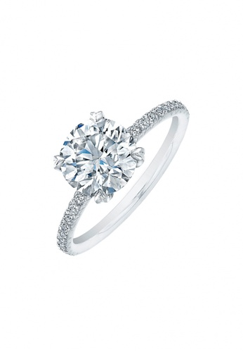 Elfi silver Elfi 925 Genuine Silver Engagement Ring M12 - The Joy of Love EL186AC62LZPMY_1