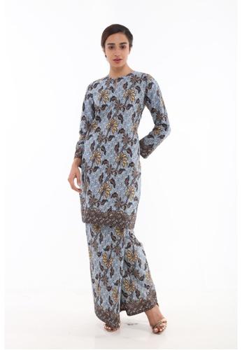 Amar Amran brown Kurung Moden Batik Classic 28583AA835A588GS_1
