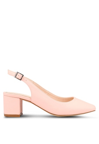 c0476cef539 Shop Nose Square Toe Slingback Block Heel Online on ZALORA Philippines