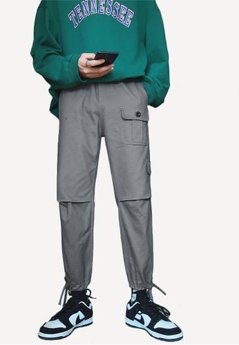 hk-ehunter grey Men's Front Pocket Pants 5BB62AA3BFC2B1GS_1