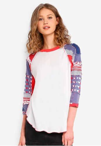 Free People white Bright Star Tee B9938AA4039FE3GS_1