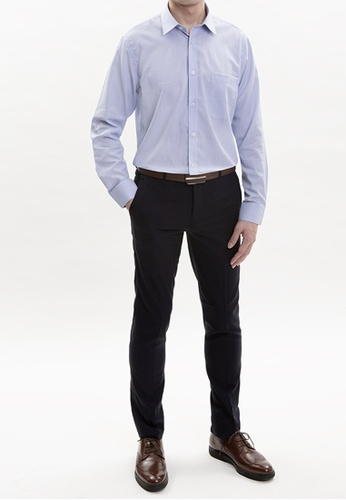 Goldlion blue Goldlion Nanotech Wrinkle Free Long-Sleeved Shirt 66F5AAA038EC01GS_1