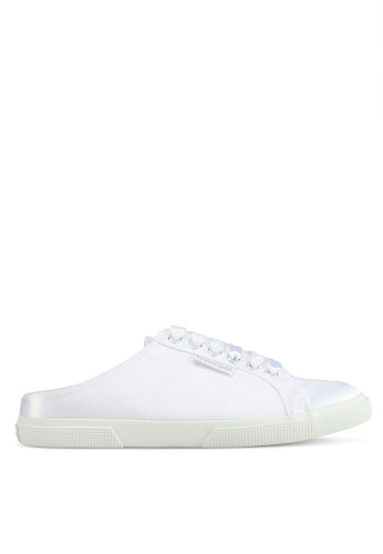 Superga white Satinw Slip Ons 940D7SH7ABFA60GS_1