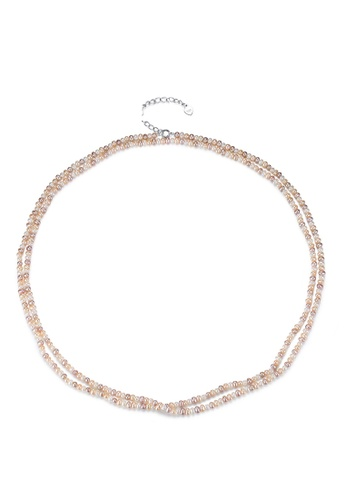 A.Excellence white Premium White Pearl Elegant Necklace 4940EAC3B32A56GS_1