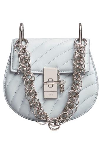 Chloé blue Chloe Drew Bijou Mini Crossbody Bag in Airy Grey 69136AC940C13BGS_1