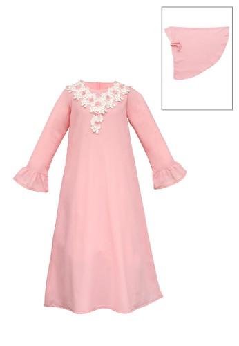 INFINE pink Muslim Dress Anak Esm 159 12/16 B0833KA1004B20GS_1