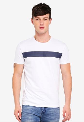 Calvin Klein 白色 Fashion Logo Slim Tee - Calvin Klein Jeans D0290AA58EDA9CGS_1