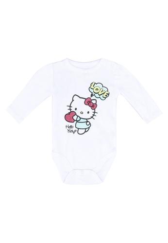 FOX Kids & Baby white Newborn Long Sleeve Bodysuit 632C9KA24005B9GS_1