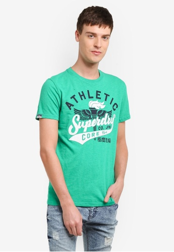 Superdry green Athletic Core 54 Tee SU137AA0SI1XMY_1