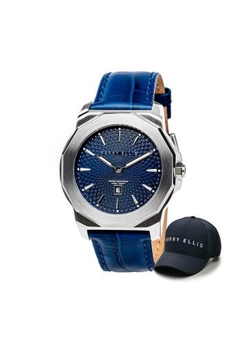 Perry Ellis blue Perry Ellis Decagon Unisex 42mm Quartz Watch 08001-01 with Perry Ellis Cap 58B4FAC6DDE8CBGS_1