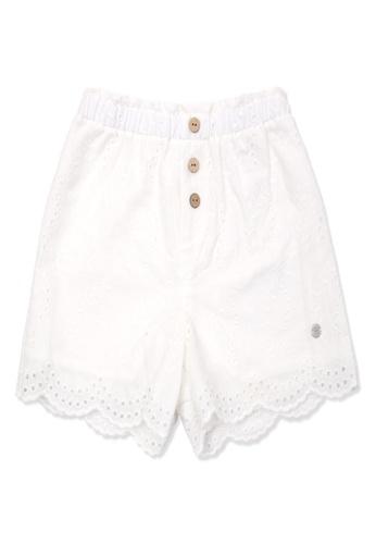 Organic mom white Organic Cotton  Rose Shorts 35DE6KA1703EF7GS_1