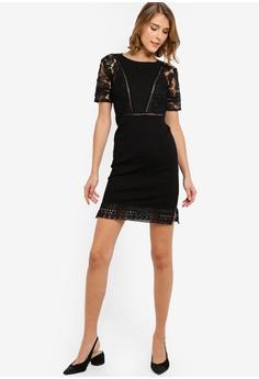442359ebf458 French Connection Viola Lula Lace Jersey Short Sleeve Dress HK$ 1,279.00.  Sizes 6 10 12 14