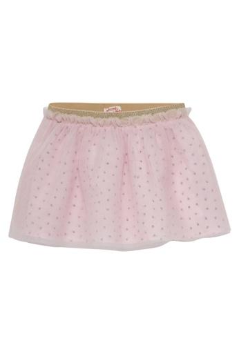 Du Pareil Au Même (DPAM) pink Mesh Skirt 0A927KAD7FCC62GS_1