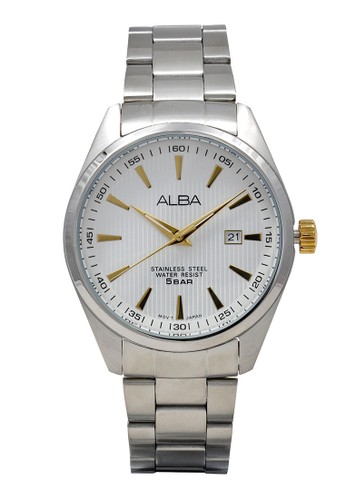 Alba silver ALBA Jam Tangan Pria - Silver Gold - Stainless Steel - AG8385 8A5A7AC67FD123GS_1